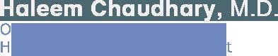 Haleem Chaudhary, M.D - Orthopaedic Surgeon